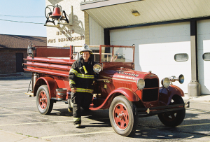 Neosho Fire Truck and Fire Chief