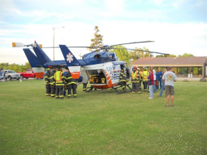 Neosho Fire and EMS Department trains with Medical Flight Services