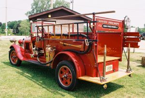 Old Timer Fire Truck back