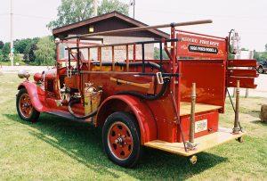 Old Timer Fire Truck back